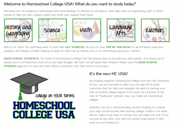 Homeschool College Courses