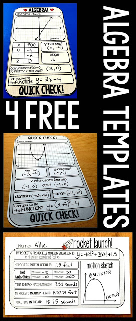 Make Algebra more fun with these printable templates and activities! :: www.thriftyhomeschoolers.com