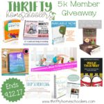 Thrifty Homeschoolers 5k Member Giveaway