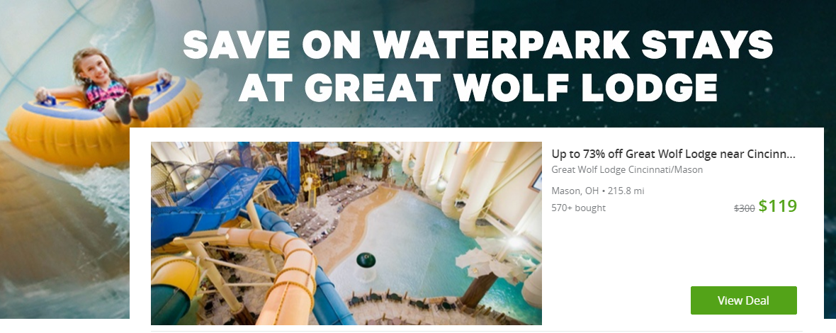 If you're looking for a quick, easy and affordable Family Getaway, don't miss the Great Wolf Lodge deals on Groupon right now!! HURRY before they're gone! :: www.thriftyhomeschoolers.com