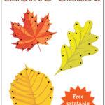 Fall Leaf Lacing Printables