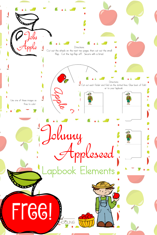 Help Middle Schoolers work independently and learn more about Johnny Appleseed with this free Lapbook set. :: www.thriftyhomeschoolers.com