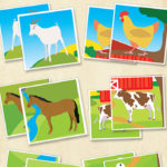 Free Farm Animals Memory Game