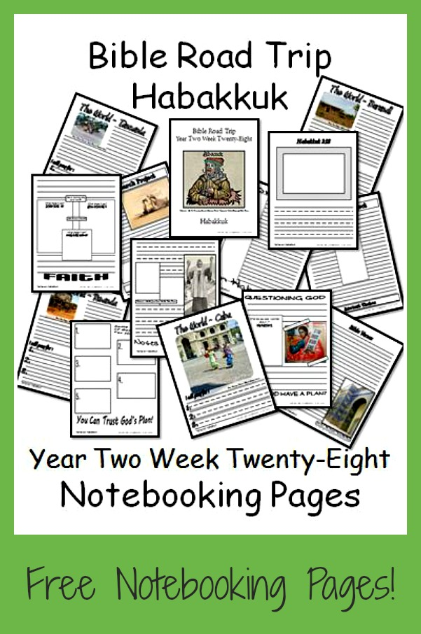 Help your children as they read through the book of Habakkuk with these printable Bible Notebooking Pages. :: www.thriftyhomeschoolers.com