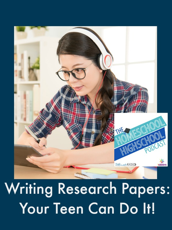 Research papers don't have to be intimidating. Now your middle and high schooler can learn how to write them with these helpful tips! :: www.thriftyhomeschoolers.com