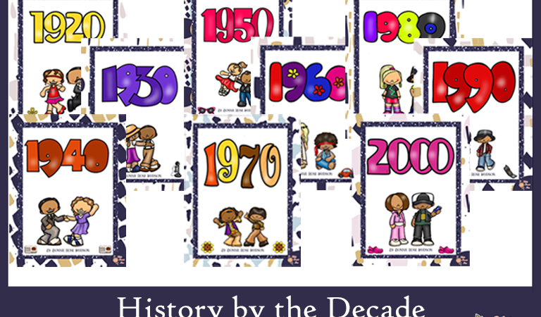 LIMITED TIME FREEBIE: History by the Decade Workbooks