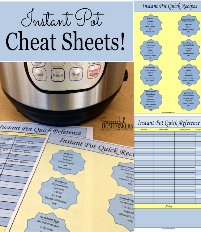 picture relating to Instant Pot Cheat Sheet Printable referred to as Absolutely free Immediate Pot Cheat Sheets - Thrifty Homeschoolers
