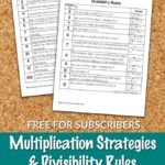 Free Multiplication & Divisibility Rules Cheat Sheets