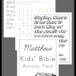 Kids' Matthew Bible Activity Pack