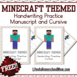 Minecraft Handwriting Practice Sheets