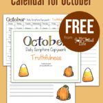 Free Scripture Copywork Calendar for October