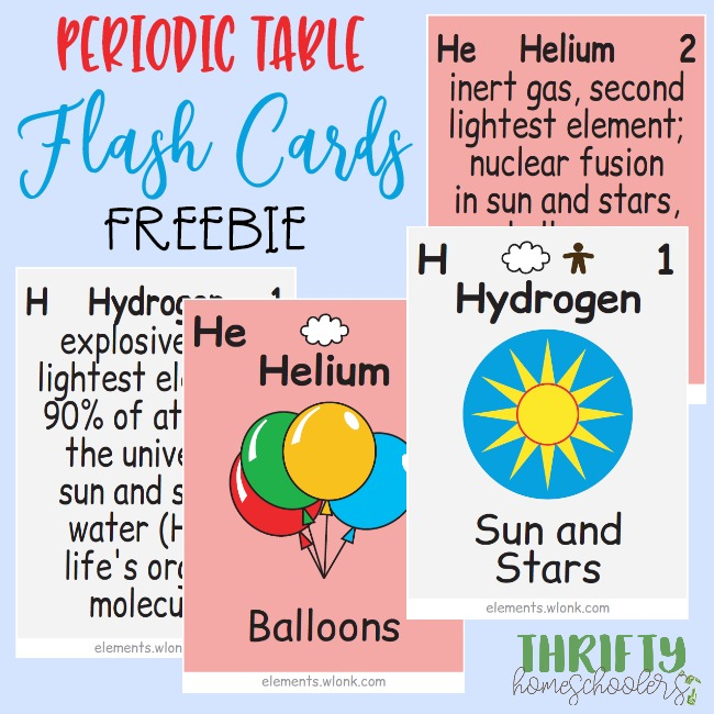 photo regarding Periodic Table Flash Cards Printable identified as Periodic Desk Flash Playing cards - Thrifty Homeschoolers