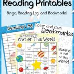 Free Space Theme Reading Log, Bingo & Bookmarks