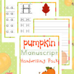 Free Pumpkin Manuscript Handwriting Pack