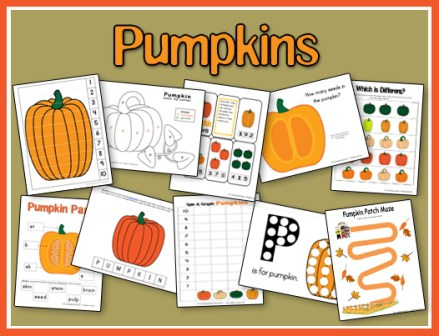 This adorable Pumpkin Preschool Pack is perfect for any unit study or just to celebrate fall! :: www.thriftyhomeschoolers.com