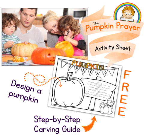 If you're carving pumpkins this year, grab this free Pumpkin Prayer Activity Page and carving guide! :: www.thriftyhomeschoolers.com