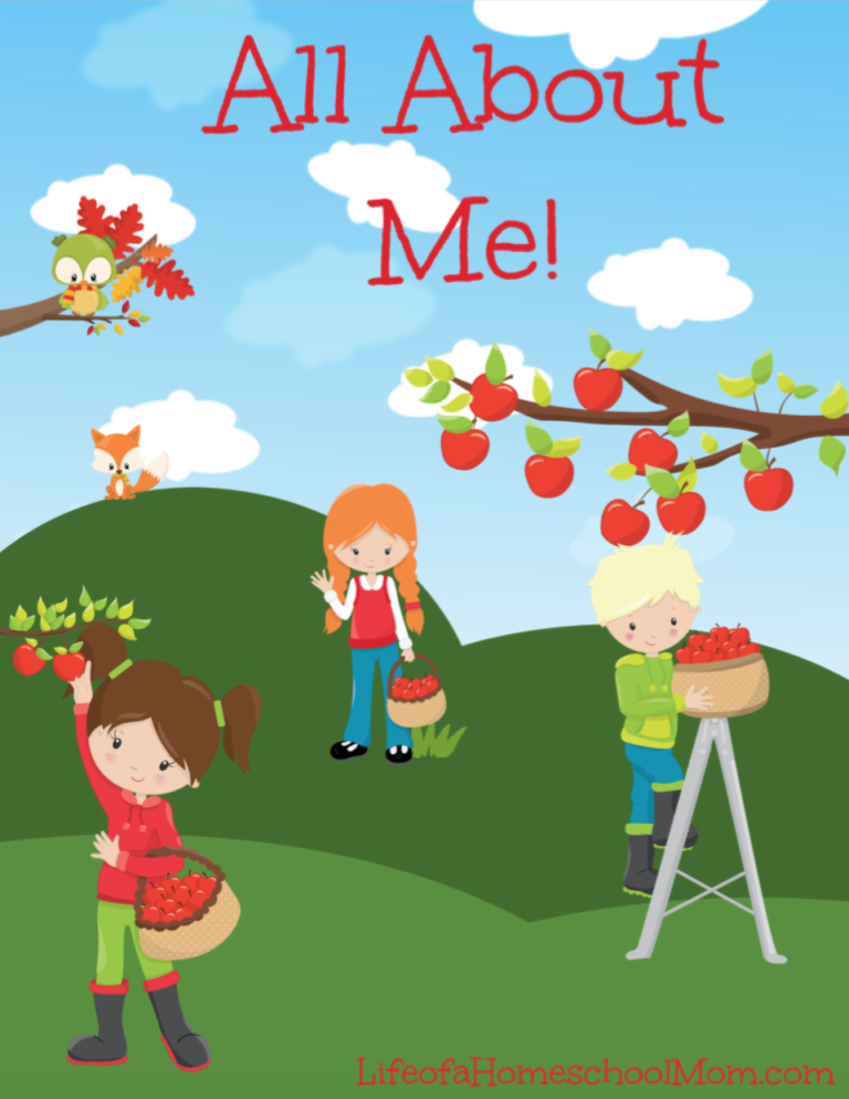 This adorable apple themed All About Me! Pack is perfect for the beginning of school or during an apple unit! :: www.thriftyhomeschoolers.com