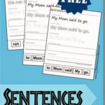 Free Building Sentences Worksheets (PreK-K)