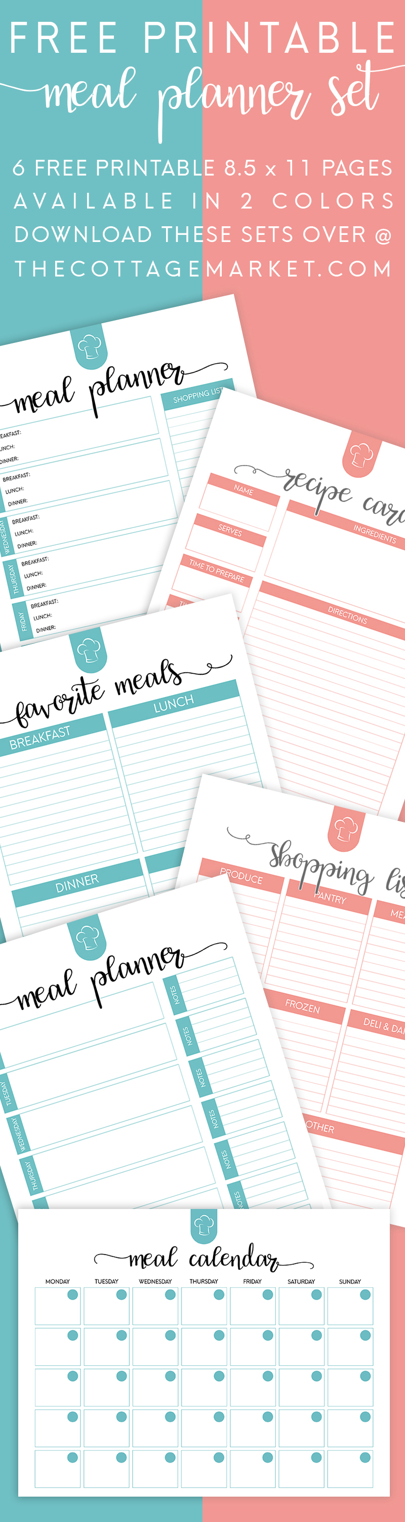 Make meal time less stressful and more economical with these FREE Meal Planning printables. :: www.thriftyhomeschoolers.com