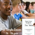 FREE Sample Lesson: How To Take Notes