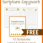 Scripture Copywork: Thankfulness
