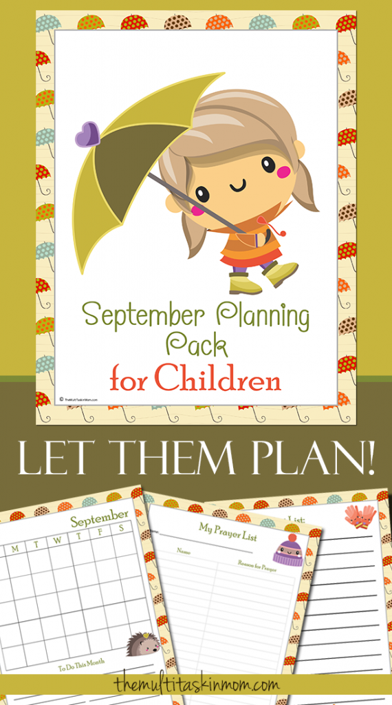 Even though September is half over, its not too late to grab this FREE September Planning Pack for your kids. :: www.thriftyhomeschoolers.com