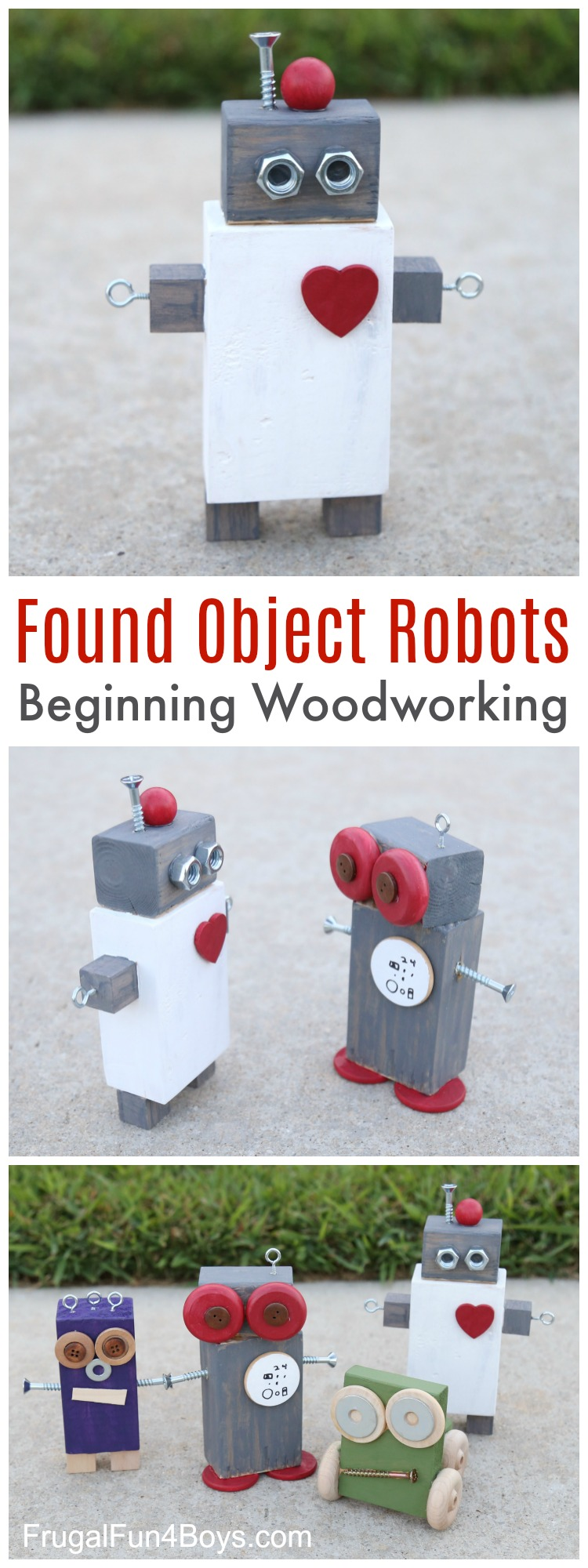 These DIY Robots from loose objects looks like the perfect activity for a nice fall day! :: www.thriftyhomeschoolers.com