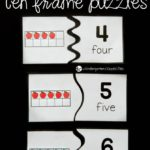 Free Printable Apple Ten Frame Puzzles
