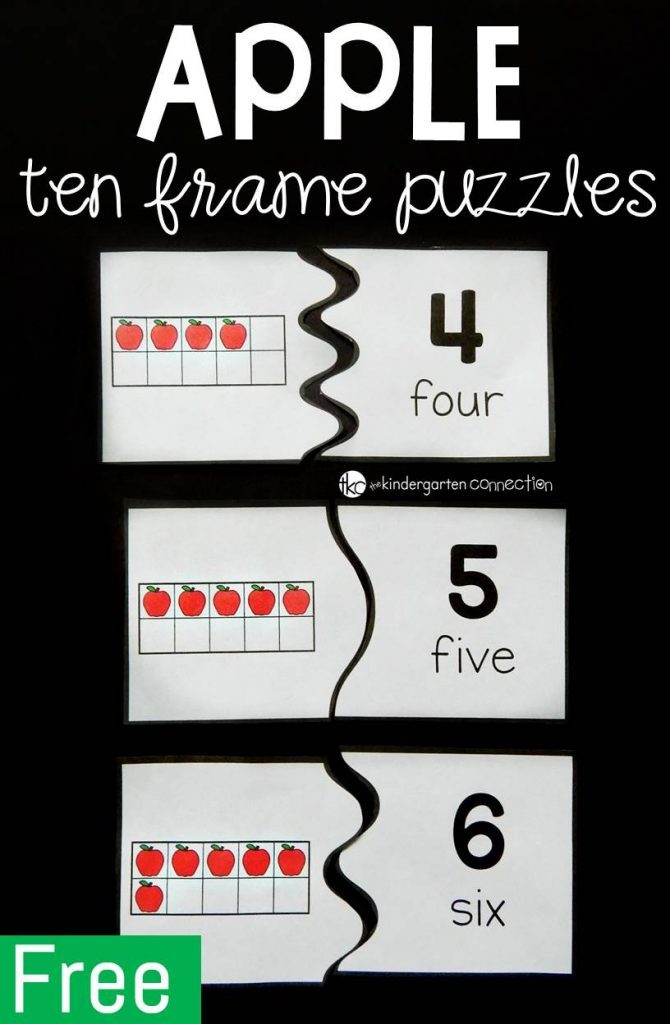 picture relating to Give Me Five Poster Printable Free referred to as Cost-free Printable Apple 10 Body Puzzles - Thrifty Homeschoolers