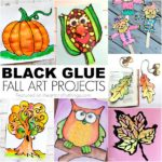 Fall Themed Black Glue Art Projects