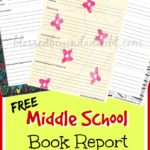 Middle School Book Report Forms