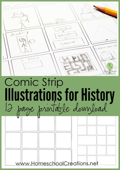 Kids will love creating their own Comic Strips for any subject with these printable templates! :: www.thriftyhomeschoolers.com