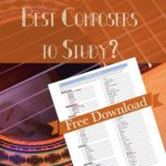 Best Composers to Study Printable + Giveaway