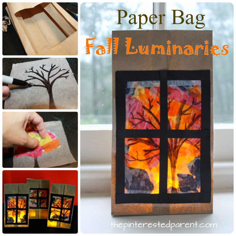 Fall Luminaries from Brown Paper Bag