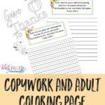 Thanksgiving Copywork & Coloring Page Bundle