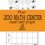 Zoo Animal Graphing Printable for Kindergarten
