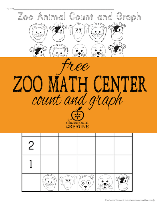 Your Preschool or Kindergartner will love practicing their counting with this FREE Zoo Animal Graphing Activity! :: www.thriftyhomeschoolers.com