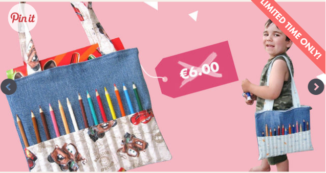 Free Coloring Bag Sewing Pattern (LIMITED TIME)