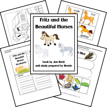 If you don't have the book, Fritz and the Beautiful Horses, grab a copy and this printable from Homeschool Share for a fun mini literature study! :: www.thriftyhomeschoolers.com