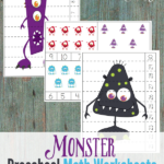 Free Monster Preschool Math Printables