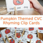 Free CVC Pumpkin Rhyming Cards
