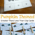 Greater than Less than Pumpkin Clip Cards
