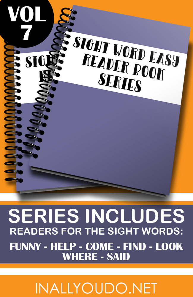 "These Easy Sight Word Readers will help kids with the words ""funny, help, come, find, look, where & said"" in 7 different readers. :: www.thriftyhomeschoolers.com"