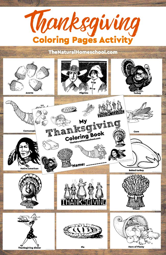 Print these Thanksgiving coloring pages to have ready while dinner is cooking and family is waiting! :: www.thriftyhomeschoolers.com