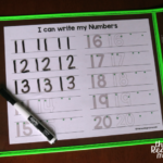 Free Writing Numbers Worksheet (1-20)