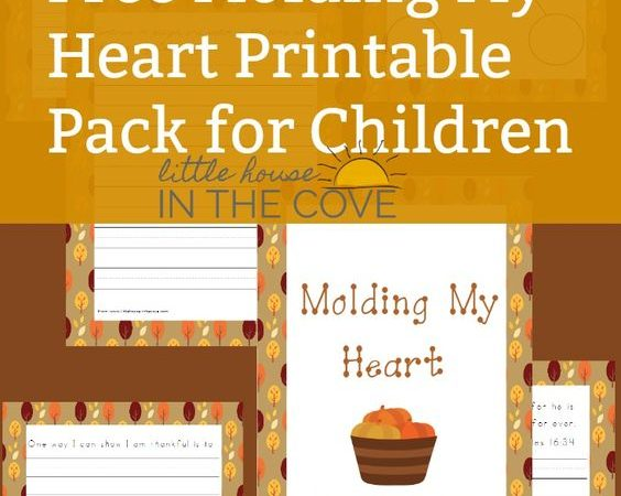 Free Molding My Heart Printable for Children