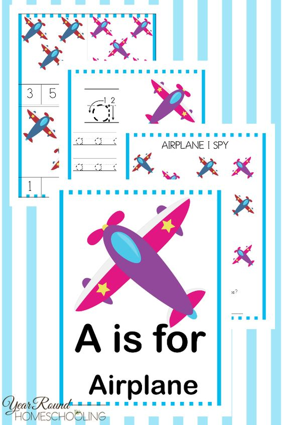 Little ones will enjoy working through this A is for Airplane Activity Pack! :: www.thriftyhomeschoolers.com
