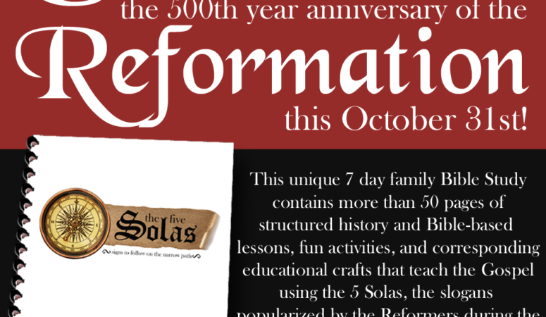 Celebrate Reformation Day with The Five Solas Family Bible Study