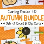 Free Autumn Clip Cards