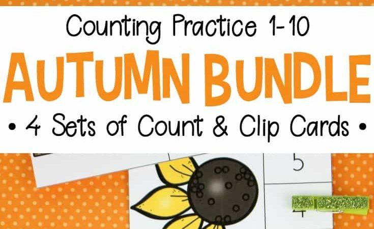 Free Autumn Clip Cards